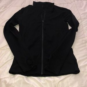 Black athletic zip up jacket